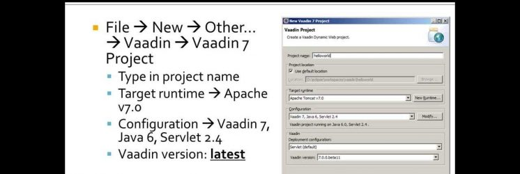 Getting Started with Vaadin: Eclipse, Tomcat and Hello World!